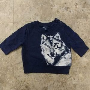 Baby Gap Unisex Sweater with Wolf